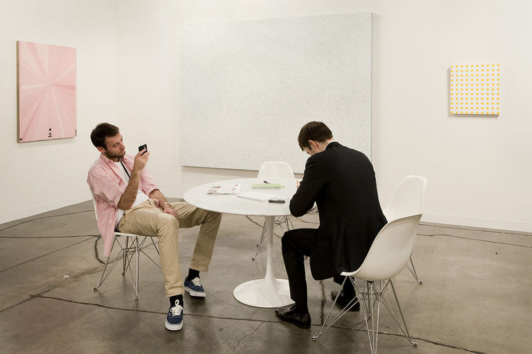 The Gagosian Gallery at Art Basel Miami in 2009.