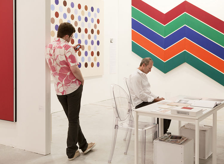 Gary Snyder at Art Miami in 2009.