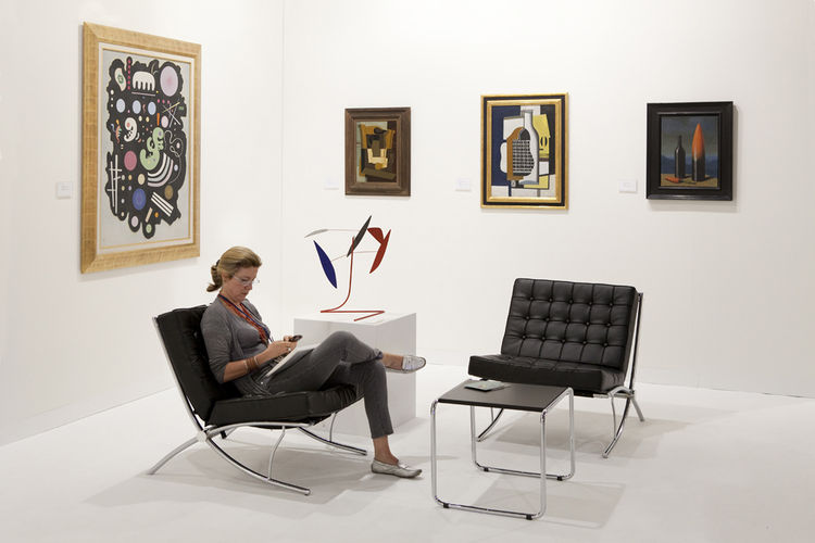 Helly Nahmad at Art Basel in 2010.