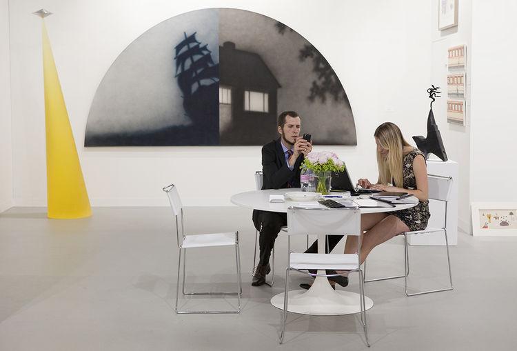 John Berggruen at Art Basel in 2010.