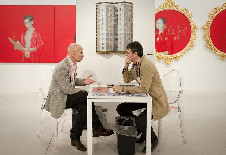 Leonard Ruethmueller at Art Miami in 2009.
