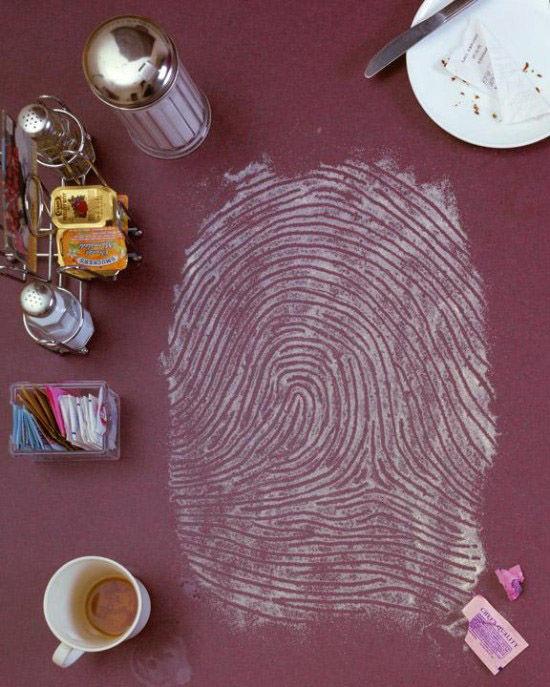 One of Kevin Van Alest's fingerprint artworks.