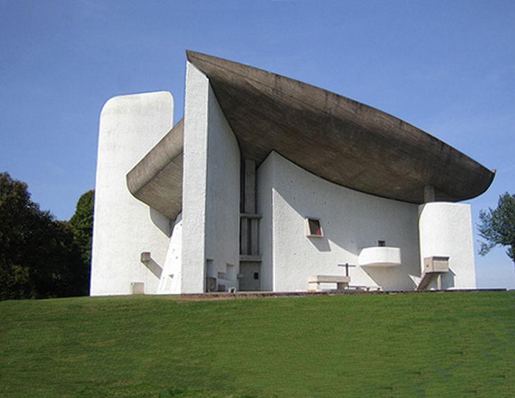 Ronchamp, Notre Dame du Haut Le Corbusier, 1955.