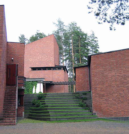 Saynatsalo Town Hall, designed by Alvar Aalto in 1952.