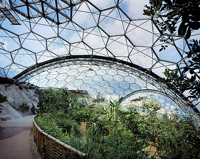 The interior of the Eden Project. Photo by Peter Cook/VIEW.