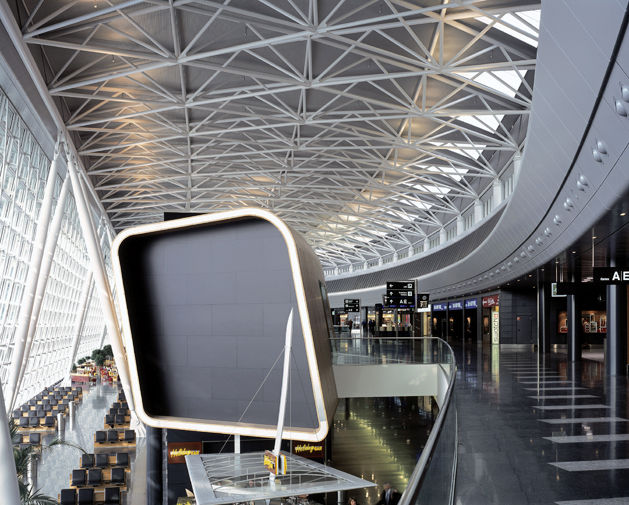 Zurich Airport, 2004, which Grimshaw managed to double in size without increasing energy usage. Photo by Edmund Sumner/VIEW.