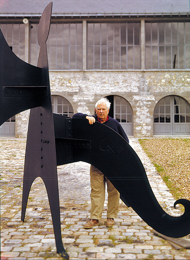 Guerrero captured Alexander Calder in front his studio in Sache, France.