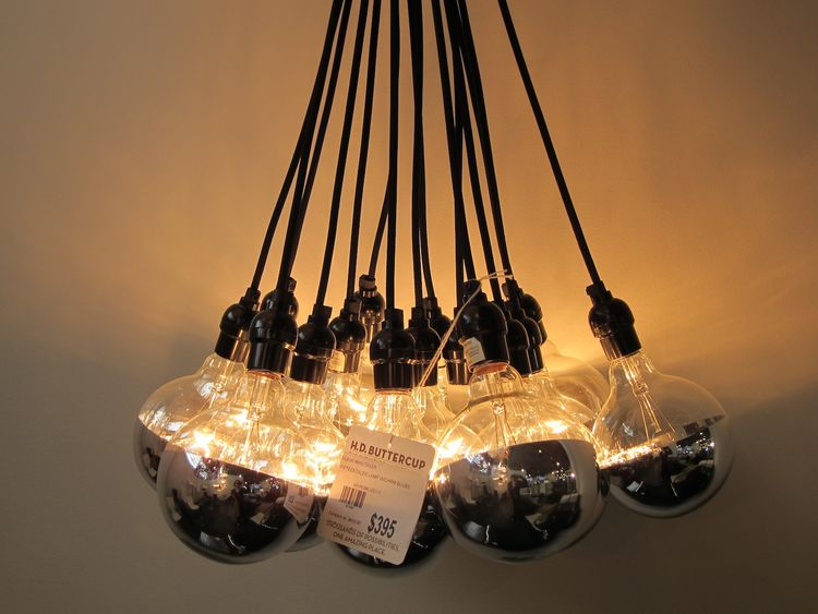 If I could walk out with one lighting fixture, it would be this $395 cluster of mirrored bulbs.