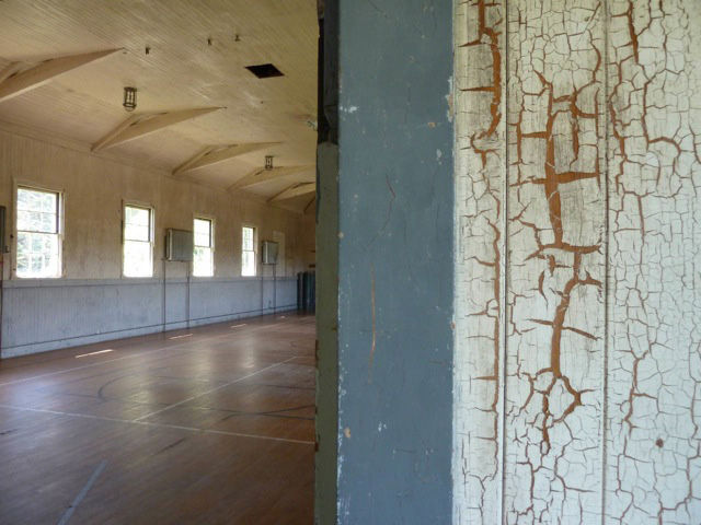 The interior of the Headlands Center gym.