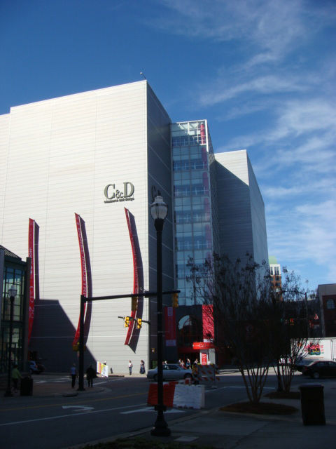 Many of the contemporary showrooms were housed in the C&D Building, which boasts a silvery skin, and neighboring 220 Elm.