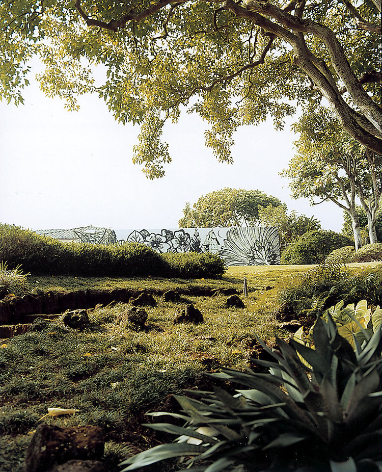 The meditation gardens at the Contemporary Museum in Makaha are laced with winding paths and unexpected views.