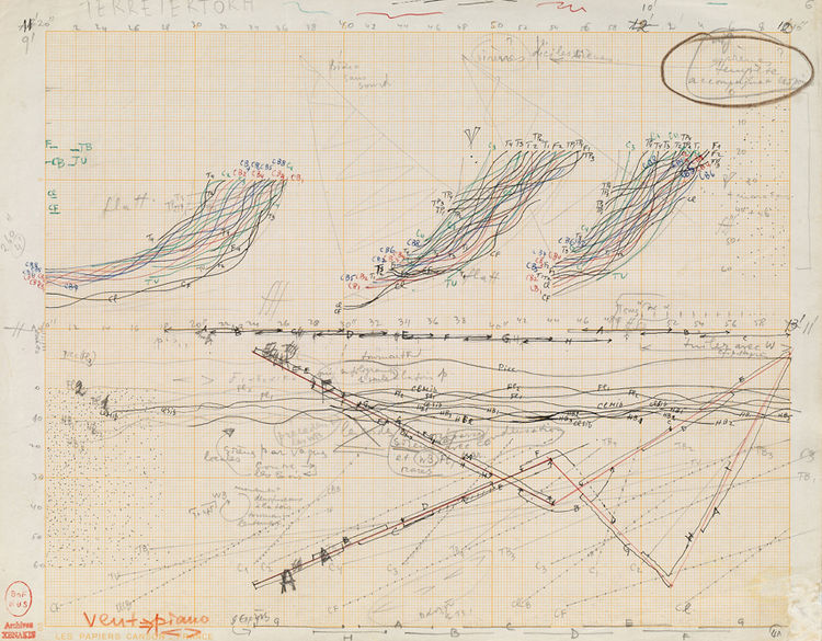 """This is another """"Study for Terretektorh"""", also from 1965-66."""