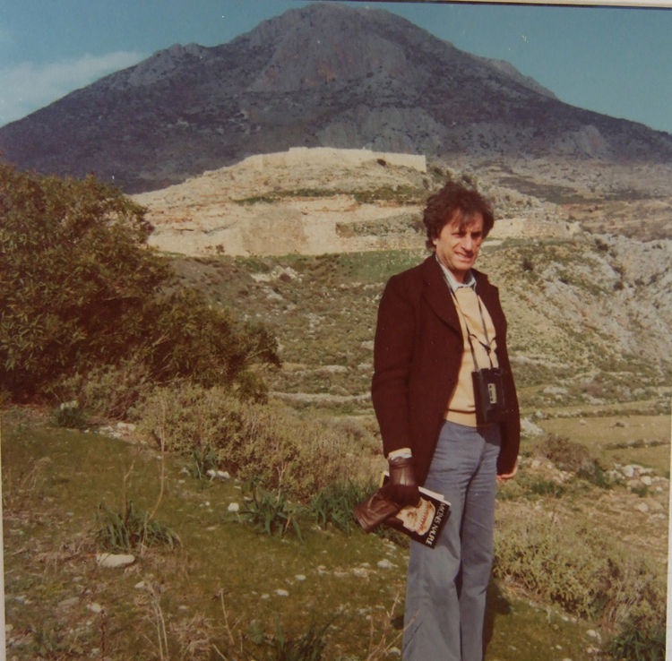 Here is Xenakis in 1974 pictured at Mycenae, one of Greece's richest archaeological sites. Mycenae was the fabled kingdom of Agamemnon.