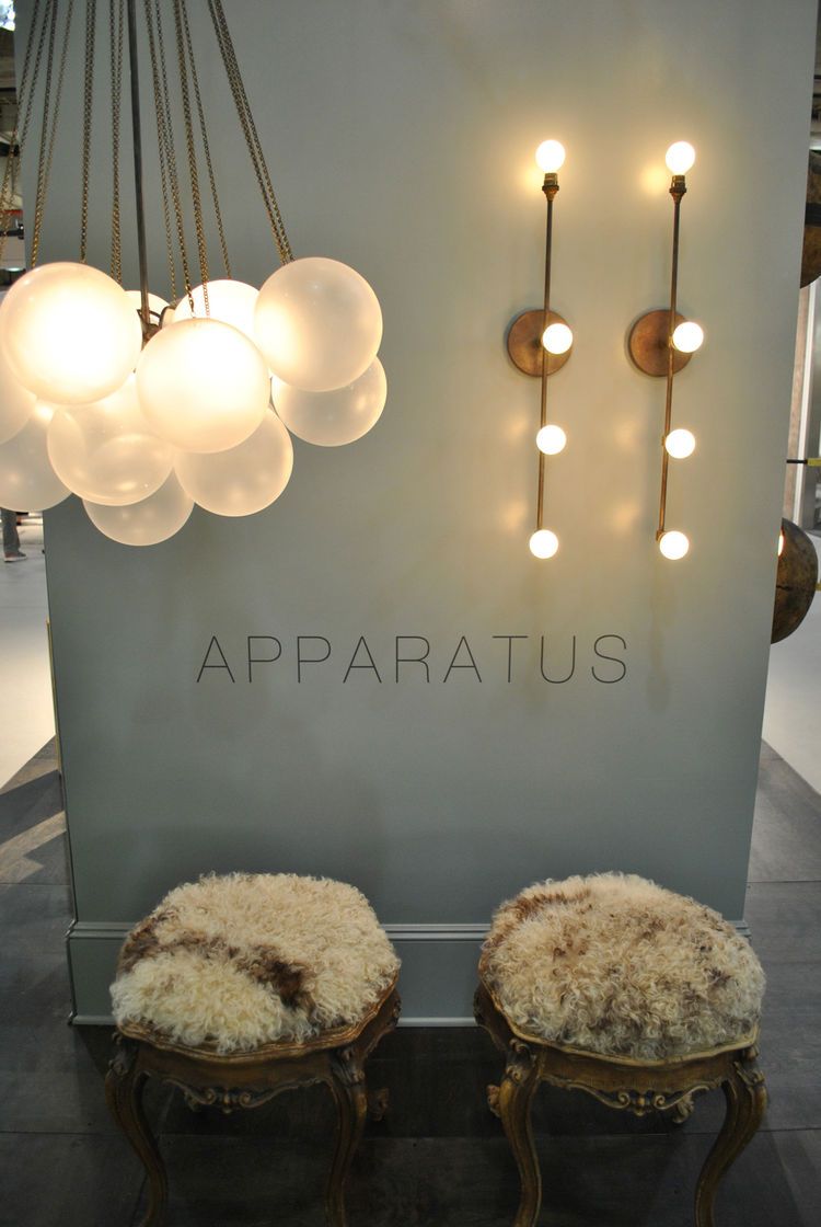 "Lighting by New York's <a href=""http://apparatusstudio.com/"">Apparatus Studio</a>."