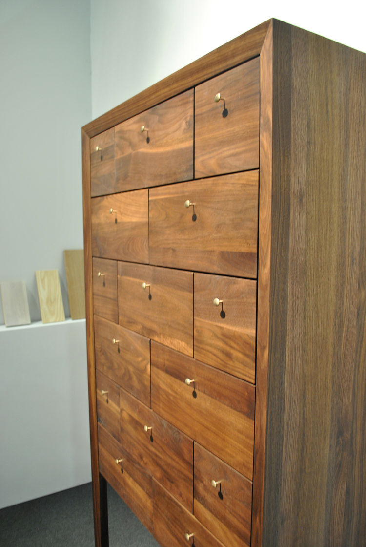 "High boy dresser by Brooke Richard and Laura Watson of Brookline, Massachusetts–based <a href=""http://www.richard-watson.com"">Richard Watson</a>."
