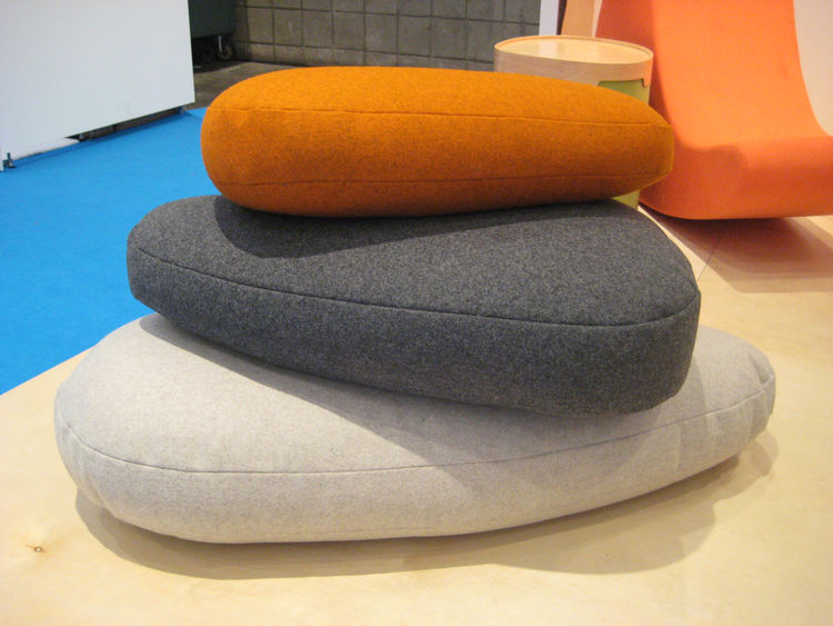 These Throwing Stones from iglooplay are covered in 100% wool, and can be stacked, sat on, and tossed around. A nice option for kids' furniture that doesn't look immature.