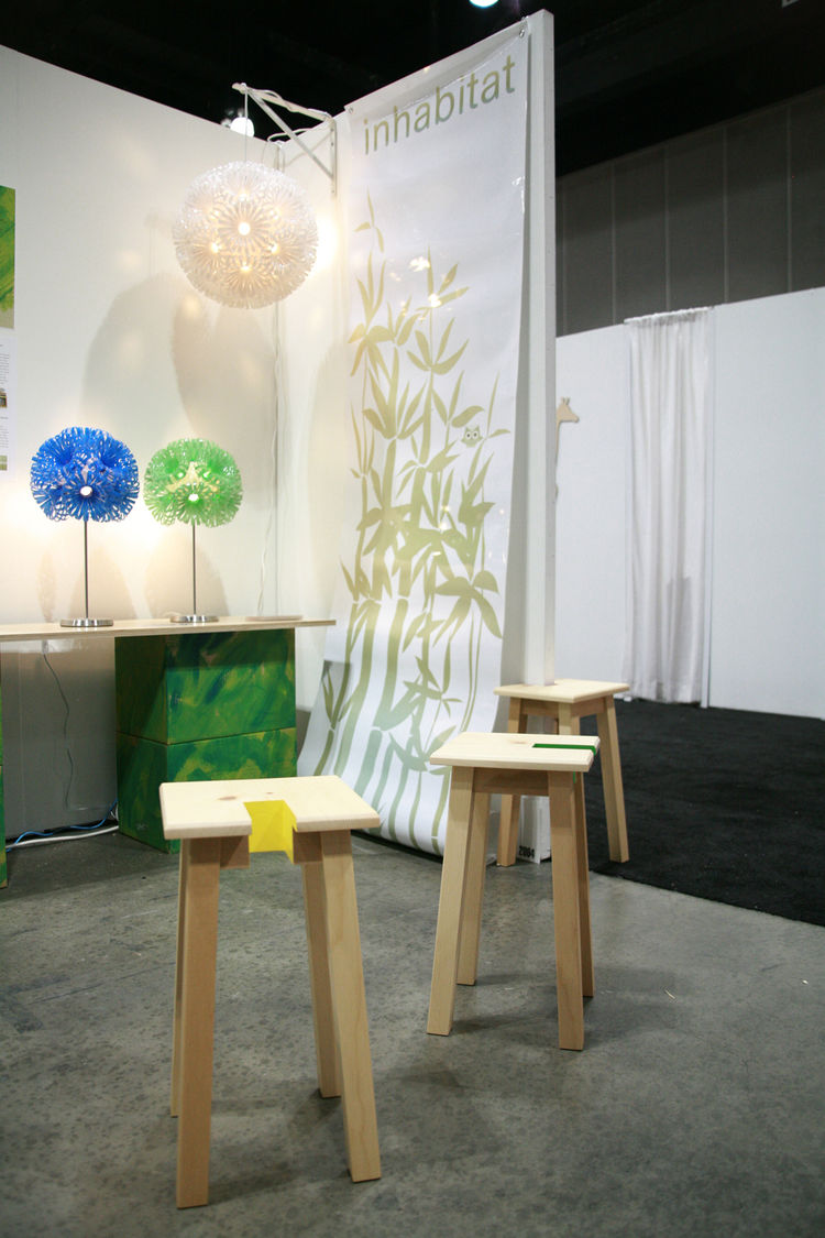 "At the space shared by <a href=""http://www.do-not-touch.com/"">Touch</a> and <a href=""http://inhabitat.com/"">Inhabitat</a>, the new Open Stool was on display. Check out assistant editor Jordan Kushin's <a href=""http://www.dwell.com/articles/live-from-the-s"
