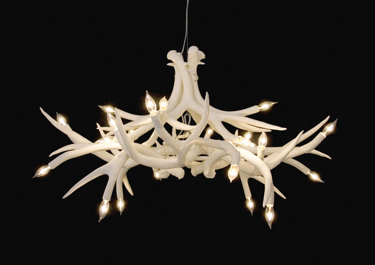 Miller's Superordinate Antler Lamps are the refined alternative to the velvet covered, parasite infested, natural ones (though we like those too).