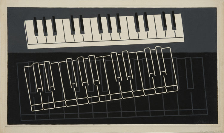 """Piano Keys,"" 1932. Image courtesy Hirshhorn Museum and Sculpture."