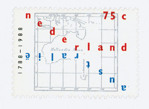 A proposed concept for a Dutch postage stamp celebrating Australia's  bicentennial.