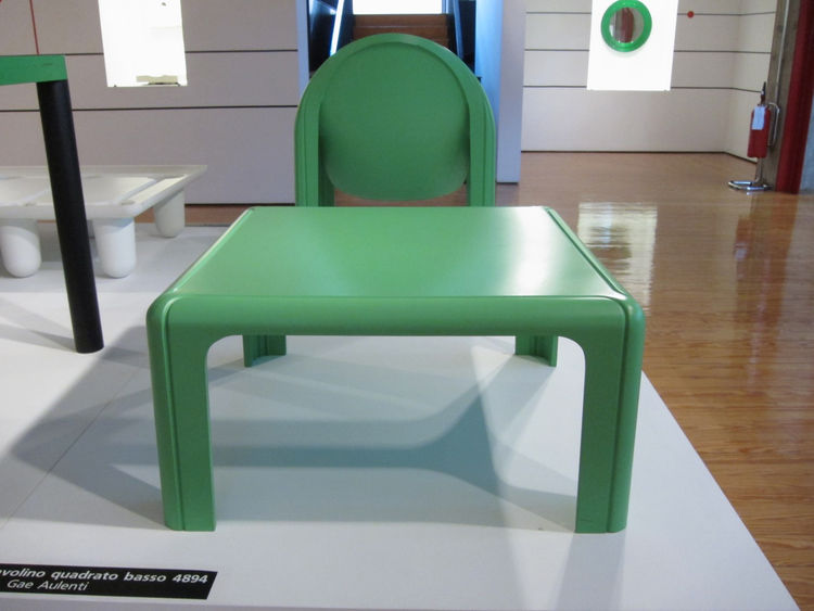 "Initially developed for Fiat dealerships, Musée D'Orsay architect <a href=""http://en.wikipedia.org/wiki/Gae_Aulenti"">Gae Aulenti's</a> 1974 collection, including the 4894 table and 4794 armchair seen here, were produced in a moulded rigid polyurethane tha"