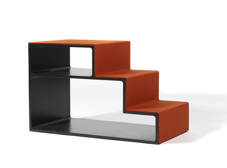 H.K. STEPS, 2010, designed by Martin Szekely. Carbon fiber, felt.