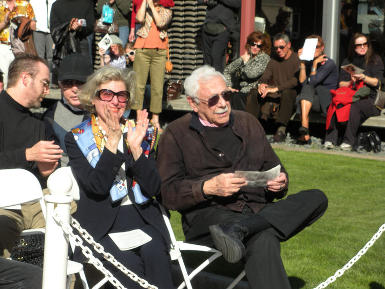 At the 4th Annual Modernism Week in Palm Springs, architect William Krisel was honored with a star bearing his name along the city's Walk of Stars. Krisel is shown above at the ceremony with his wife, Corinne.