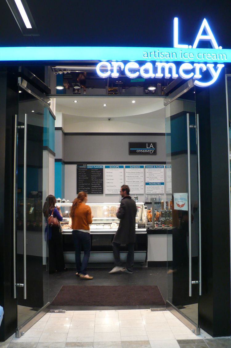 """<http://www.kelly-architects.com/"""">Kelly Architects</a>, based in Hollywood, helped Goryl and her co-owners establish what she calls their """"thoroughly modern take on an ice cream shop."""""""