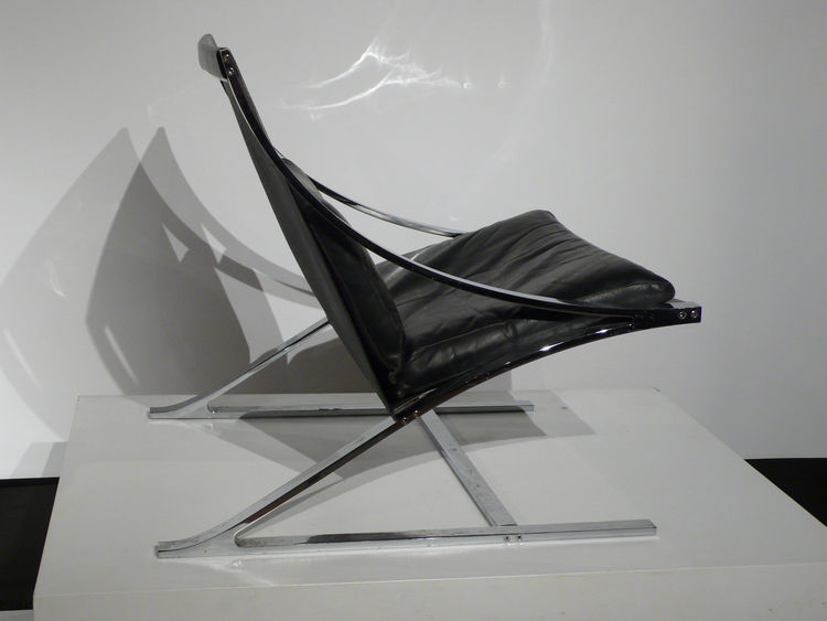 "Reform Gallery dedicated much of their show space to Paul Tuttle, who studied architecture at Frank Lloyd Wright's Taliesen West and was best known for his 1960s Santa Barbara home designs. He created the Z Chair in 1965. From <A HREF=""http://www.reform-m"