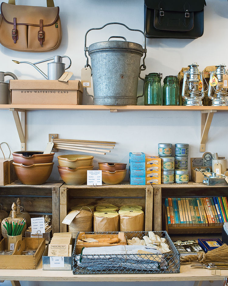 """The shelves of Labour and Wait are filled with finds from across Europe—–and, of course, the Internet. """"We're endlessly looking online, but we also have customers who come into the shop who make things or know someone making things we might like to sell,"""""""