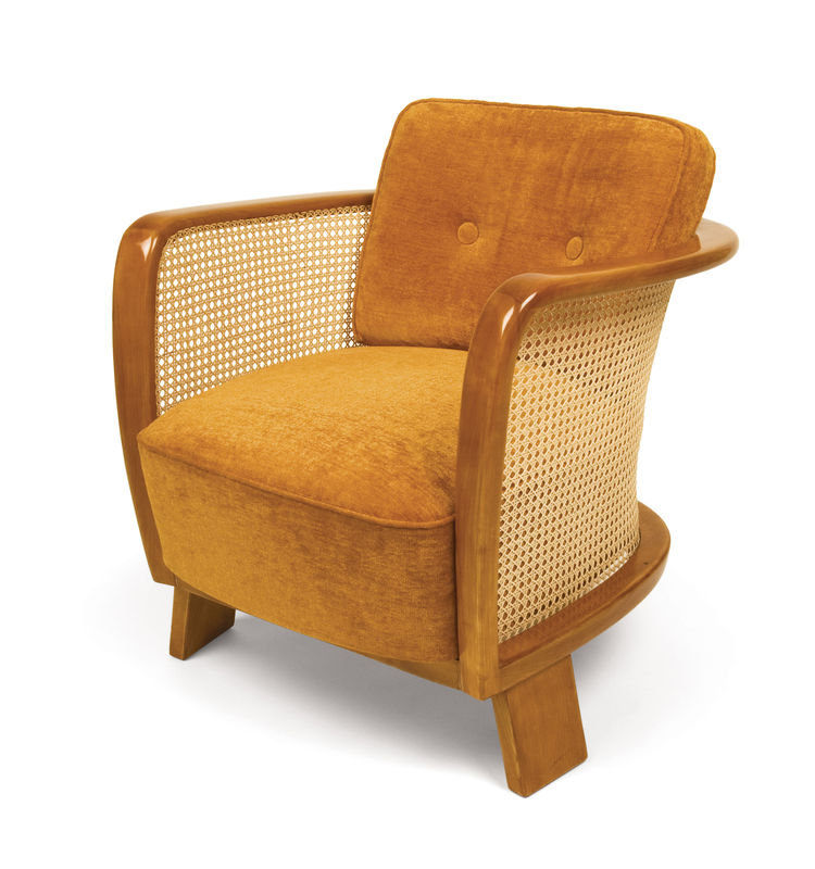 "Kozma's cane-back armchair, circa 1930s, in French-polished beechwood. Photo courtesy <a href=""http://www.szalonantiques.com/"">Szalon</a>."