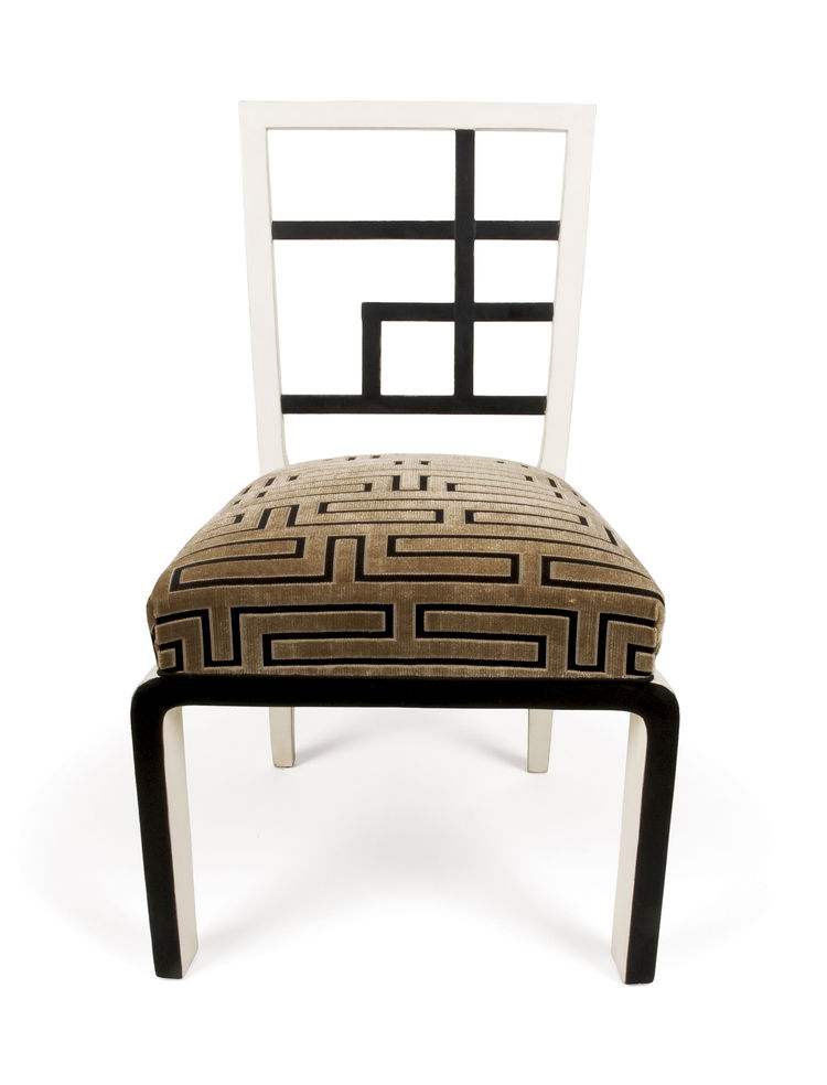 "A 1930s side chair reveals Kozma's occasional leanings toward Chinoiserie and Orientalism in his designs. Photo courtesy <a href=""http://www.szalonantiques.com/"">Szalon</a>."