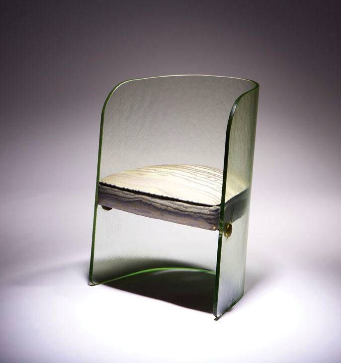 Attributed to designer Louis Dierra and manufactured by the Pittsburgh Plate Glass Company, this chair was designed in 1939 for the Glass Center Pavilion at the New York World's Fair, and later sold at J.W. Robinson Co. before being featured in Arts & Arc