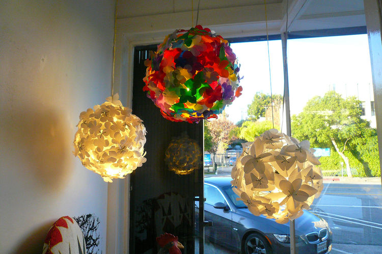 "Other People's Rubbish lamp shades, designed by Heath Nash, made from recycled plastic jugs, $395-$1,250. ""Capetown designer Heath Nash embraces the local craft of his hometown and has created a new modern aesthetic that celebrates a tradition of recyclin"