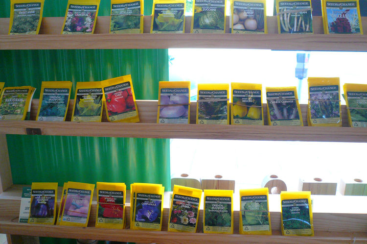 "Seeds of Change, $5 each. Says Rosenthal: ""These are my favorite seeds. I started selling them when the recession hit. 'Grow your own food' just seems like the right solution for a lot of what ails us."""
