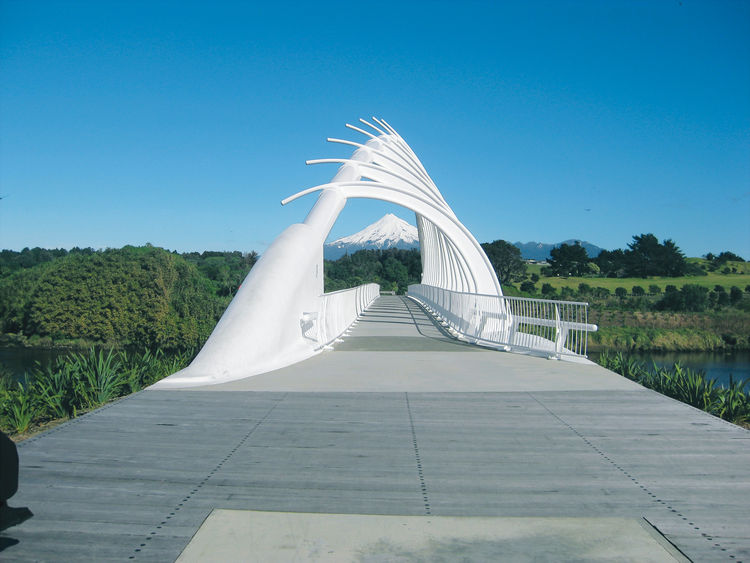 Te Rewa Rewa bridge in New Plymouth, New Zealand