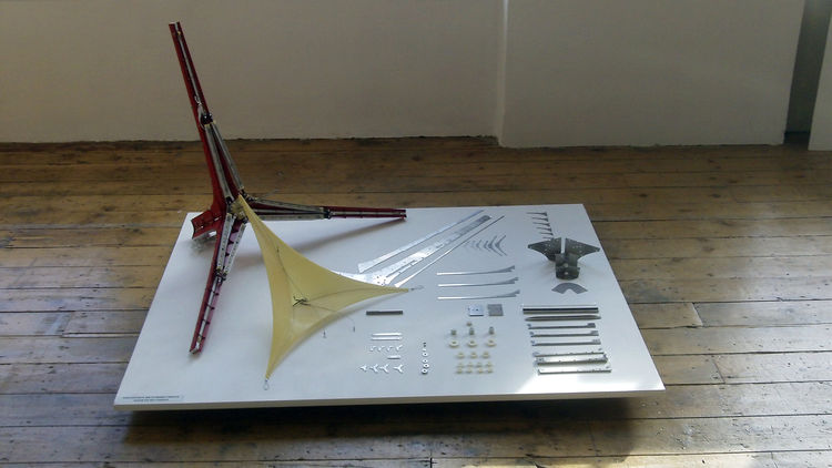 Components and experiments that would eventually become Il Hoon's pendant lamp.