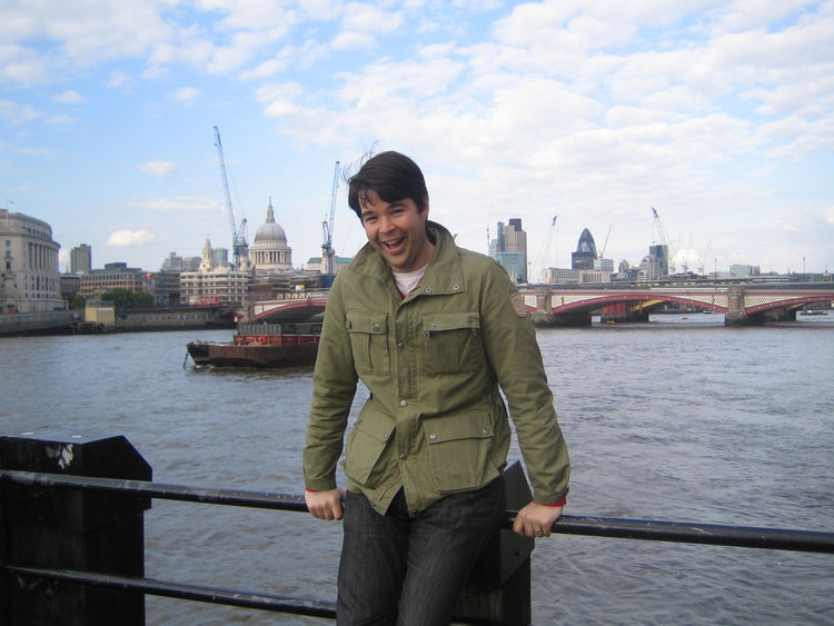 Here's me mugging on Westminster Bridge. It was my first time to London and I must have looked like some wide-eyed toddler taking it all in.
