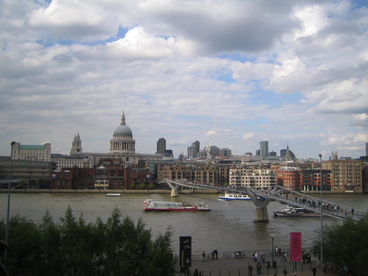 Granted, I only made it through a couple neighborhoods, but this view from one of the terraces at the Tate Modern was amongst the nicest I saw. St. Paul's Cathedral looms large, as does Sir Norman Foster's Millennium Bridge.
