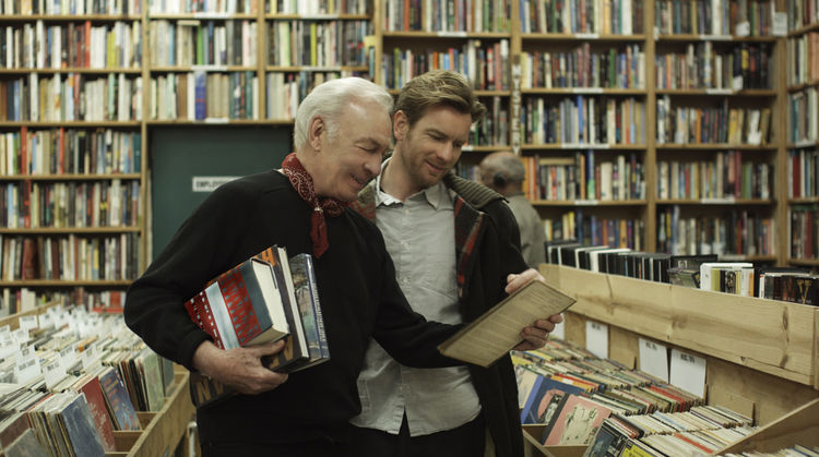 Hal and Oliver peruse the shelves of Counterpoint Books, a Los Angeles shop that appears in the film. Photo courtesy Focus Features