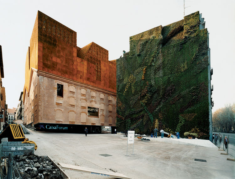 The CaixaForum by Herzog + de Meuron is a cultural center in the city's historic museum triangle.   p.242