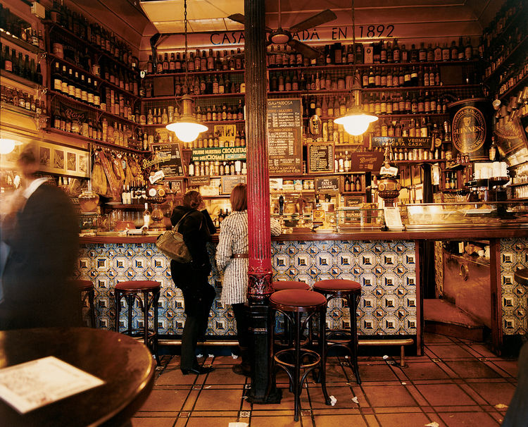 For over a century, Madrileños have been frequenting La Ardosa for a regional dose of the Spanish staples: a nice glass of wine and tapas.