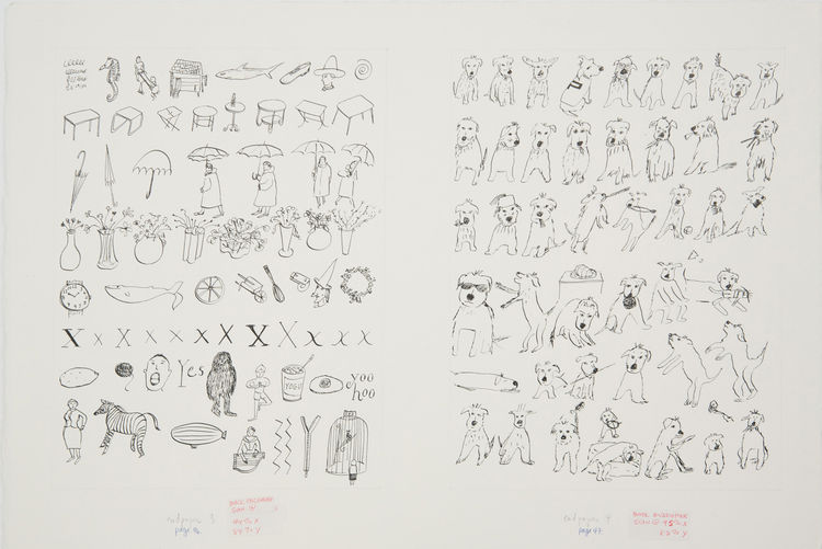 These sketches are the endpaper to her 2001 children's book, What Pete Ate.
