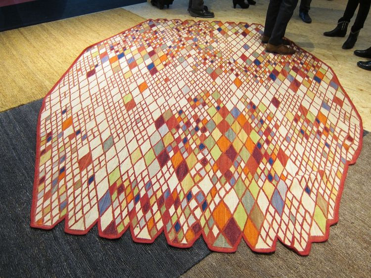 The colorful, rhombus-inspired Losanges rug by the Bouroullec brothers, for the Spanish rug company Nanimarquina.