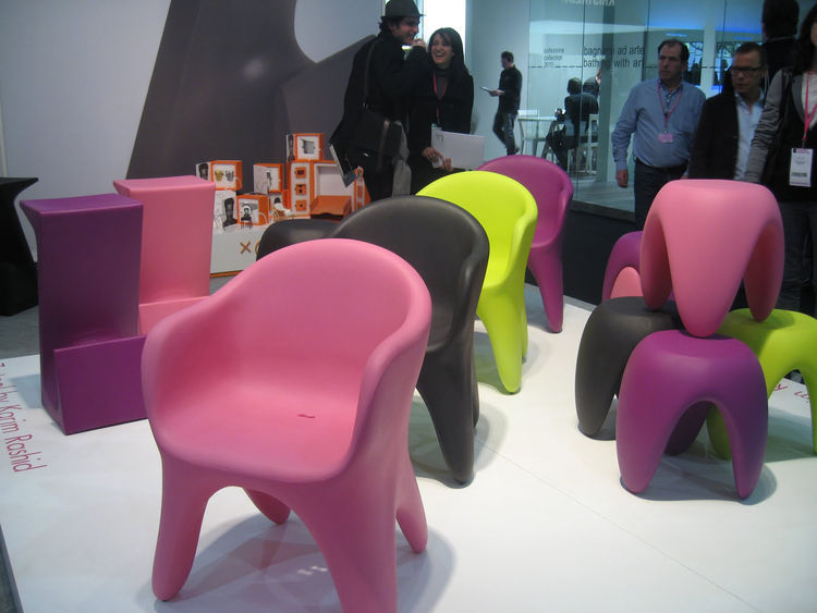 "Seen here is a collection of Roto-molded Furniture, by <a href=""http://www.karimrashid.com/"">Karim Rashid</a>—lots of form and lots of color."
