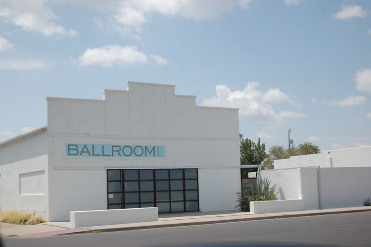 "Marfa offers a wealth of cultural attractions housed within cleverly renovated structures. Here we see the <a href=""http://www.ballroommarfa.org//"">Ballroom</a>, a 1927 building converted into an art gallery."