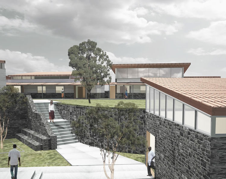 """As the inaugural hospital of the entire district, Butaro Hospital lies two hours north of Kigali, covers an area of 6000 square meters, and serves over 400,000 people. It is a joint venture between <a href=""""http://www.pih.org/home2.html"""">Partners In Heal"""