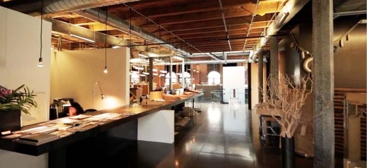 """This is Olson Kundig Architects' office just minutes before the Thursday night critique. """"The intent of these discussions is to make every project in our office the best it can be—to put the collective genius of the office to work,"""" the firm's website sta"""
