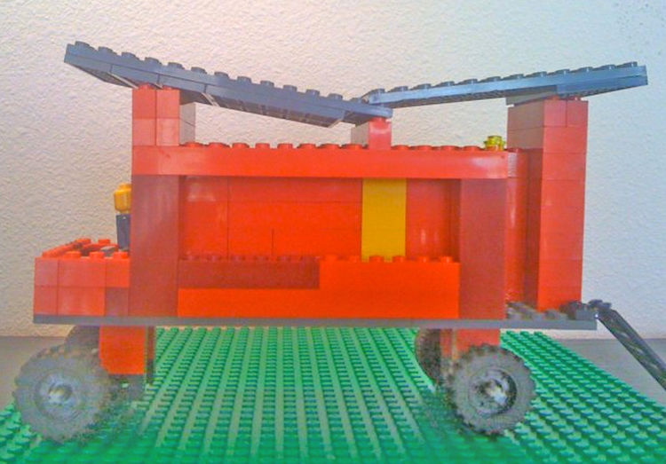 """One our favorite Kundig projects to visit are the <a href=""""http://www.rollinghuts.com"""">Rolling Huts</a>. One of our first Lego ventures was a re-creationof the Rolling Huts. There are a total of six in """"the herd"""" but we didn't have enough Legos to comple"""
