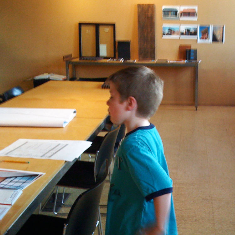 Jack checks out the plans and paperwork in advance of our meeting at Olson Kundig Architects. He's always been passionate about engineering and design and has been a frequent participant in the entire process.